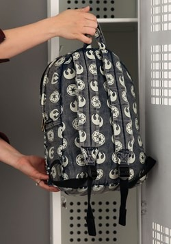 Loungefly Star Wars Rebel-Empire Print Backpack alt 1