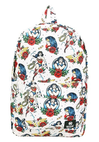 DC Comics Wonder Woman Floral Print Loungefly Backpack