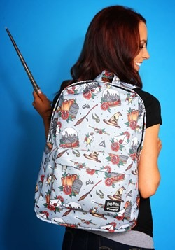 Loungefly Harry Potter Hogwarts Floral Print Backpackm