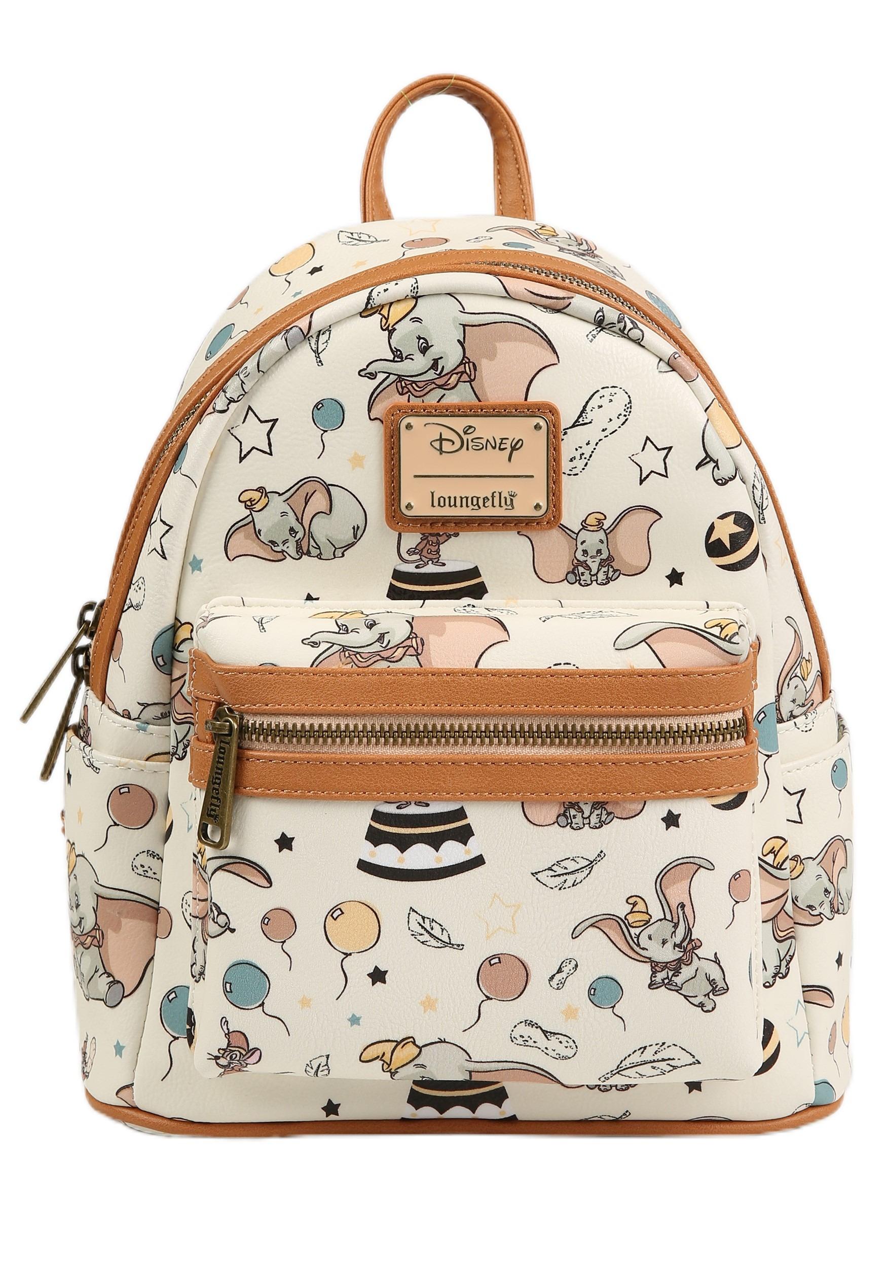 9de10738f1d Loungefly Disney s Dumbo Faux Leather Retro Print Mini Backpack