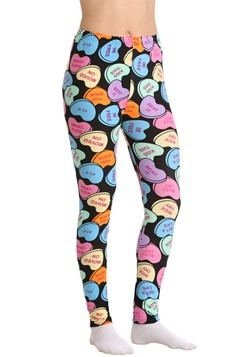 Two Left Feet Women's Bittersweet Candy Hearts Leggings upda