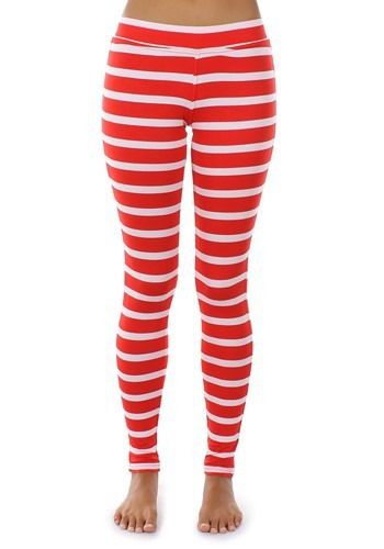 Women's Tipsy Elves Red Stripe Leggings