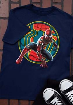 Boys Iron Spider-Man Navy T-Shirt-1