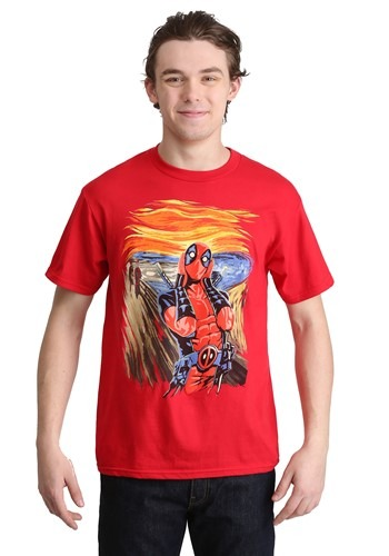 Deadpool Scream Painting Men's Red T-Shirt