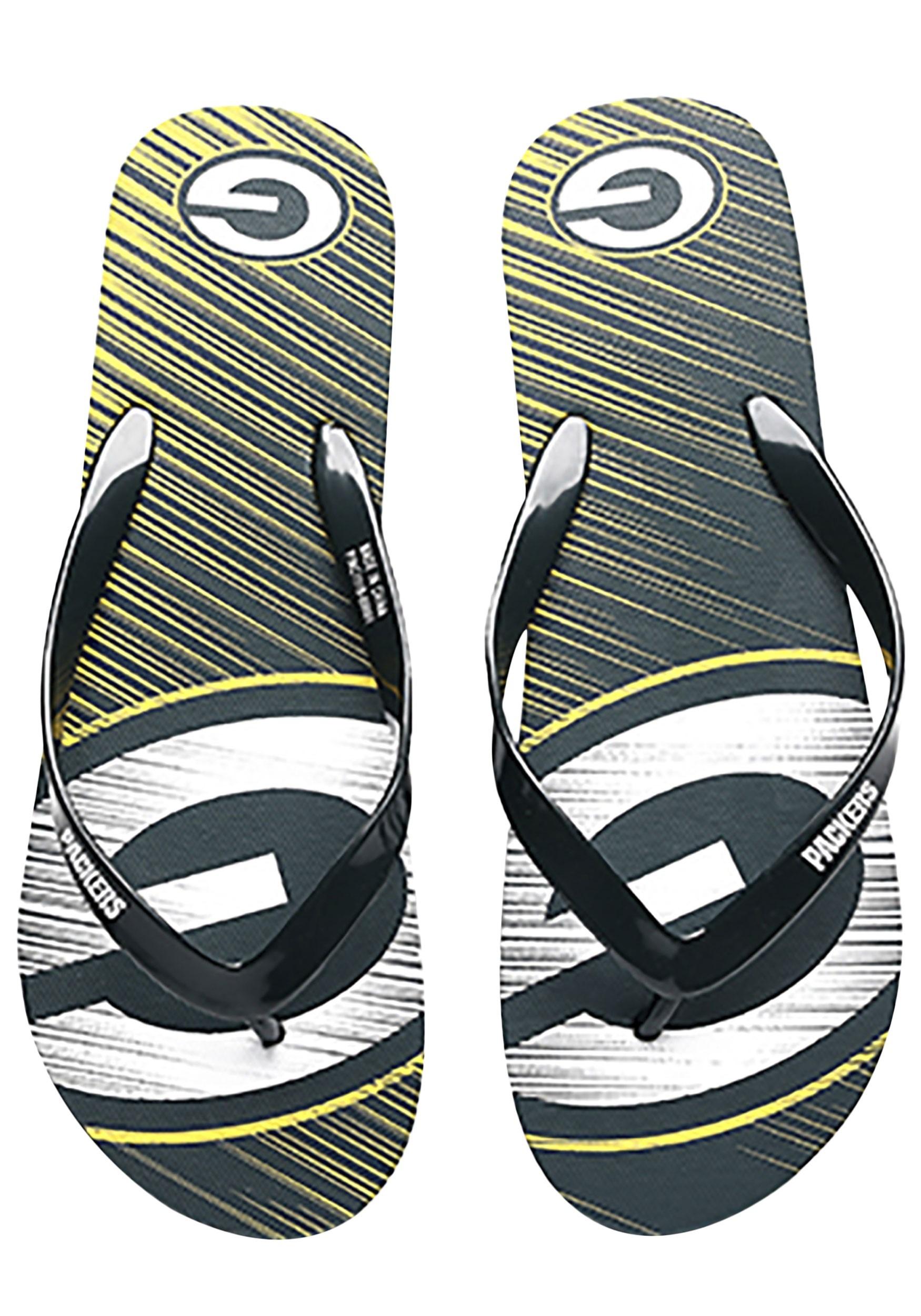 0f478d0d9ab4f Green Bay Packers Diagonal Stripe Unisex Flip Flop
