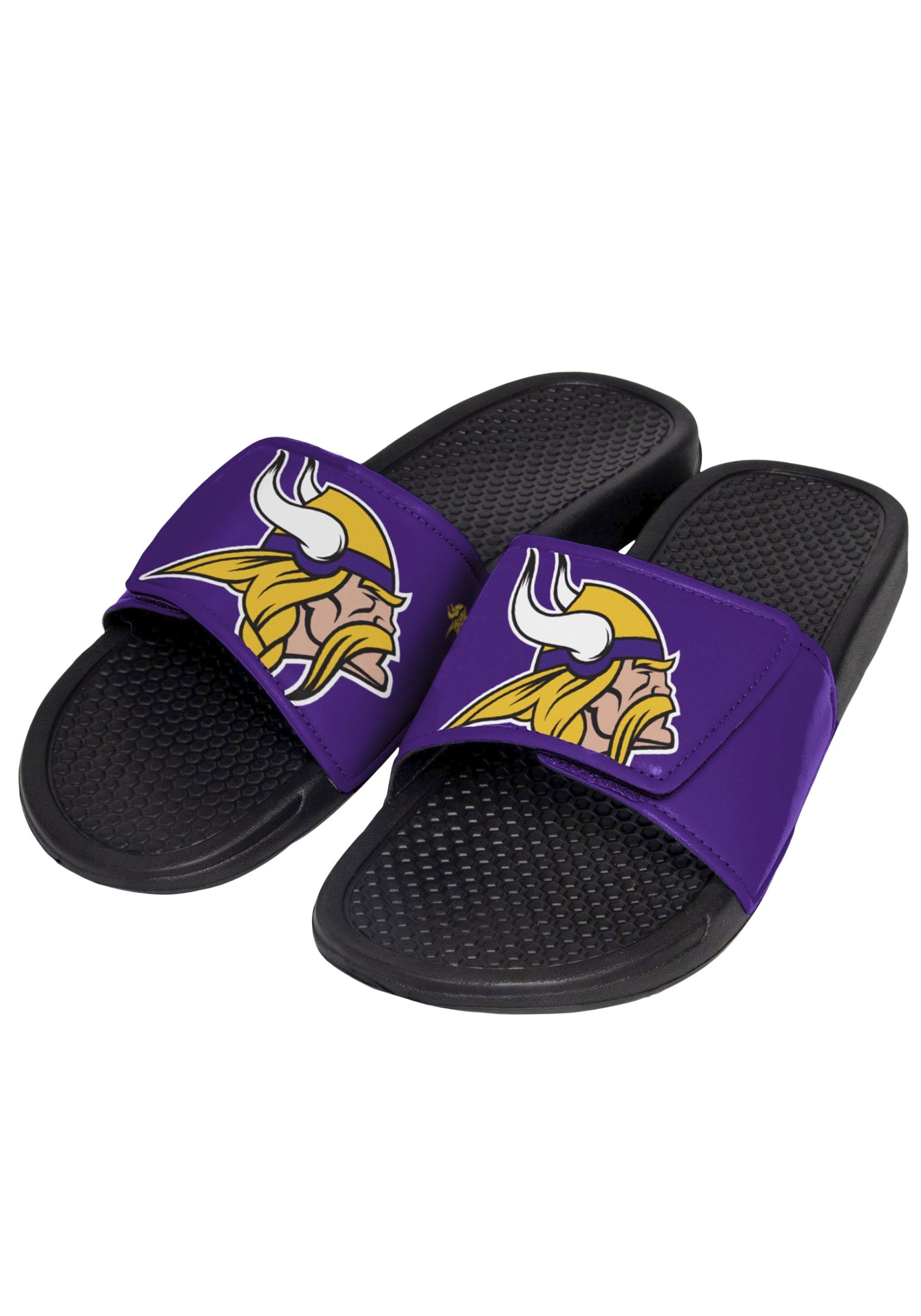 22bb68fa0b4 Minnesota Vikings Cropped Big Logo Slide Men s Flip Flop