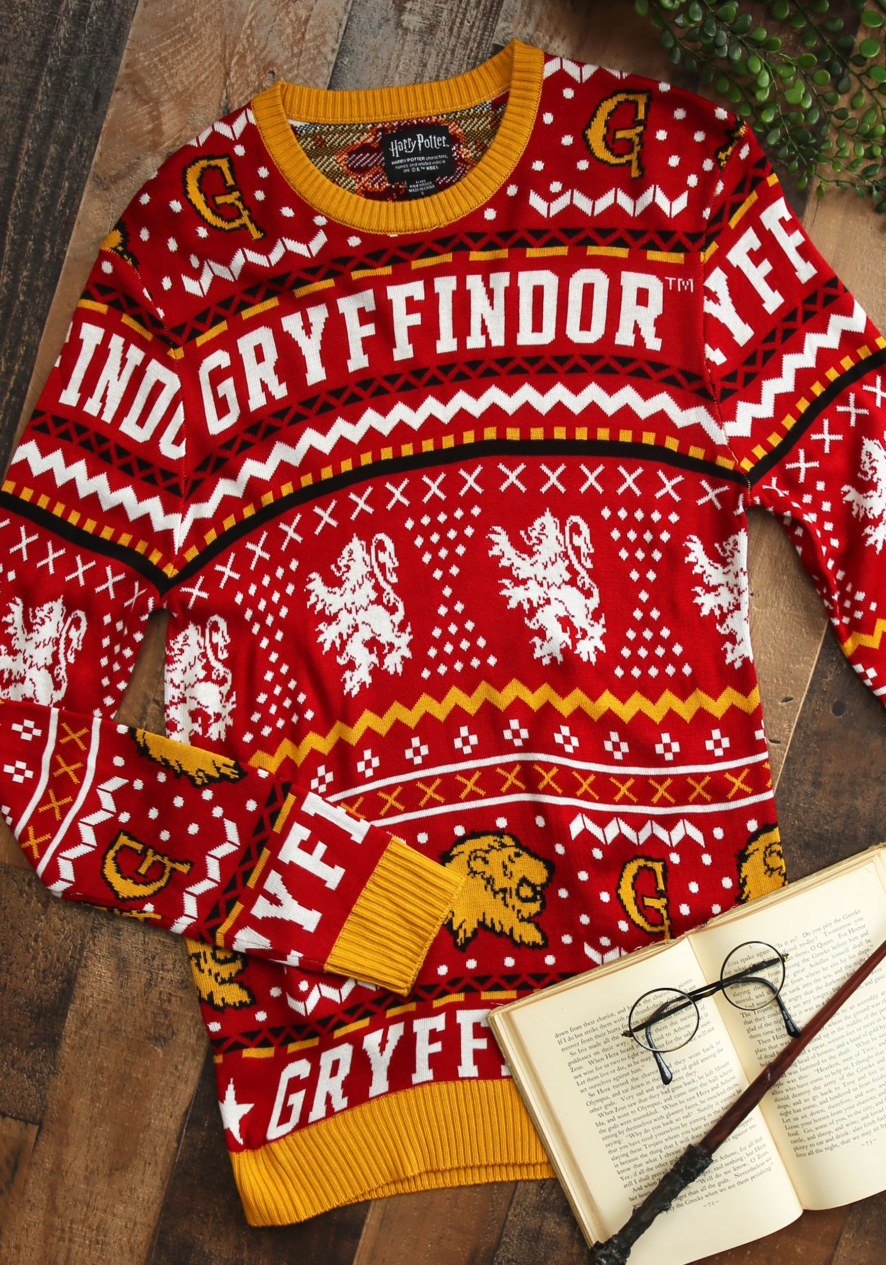 Harry Potter Gryffindor Holiday Christmas Adult Sweater