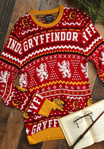 Harry Potter Gryffindor Adult Ugly Sweater Main Update