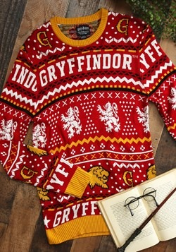 Harry Potter Gryffindor Unisex Ugly Sweater Update Main