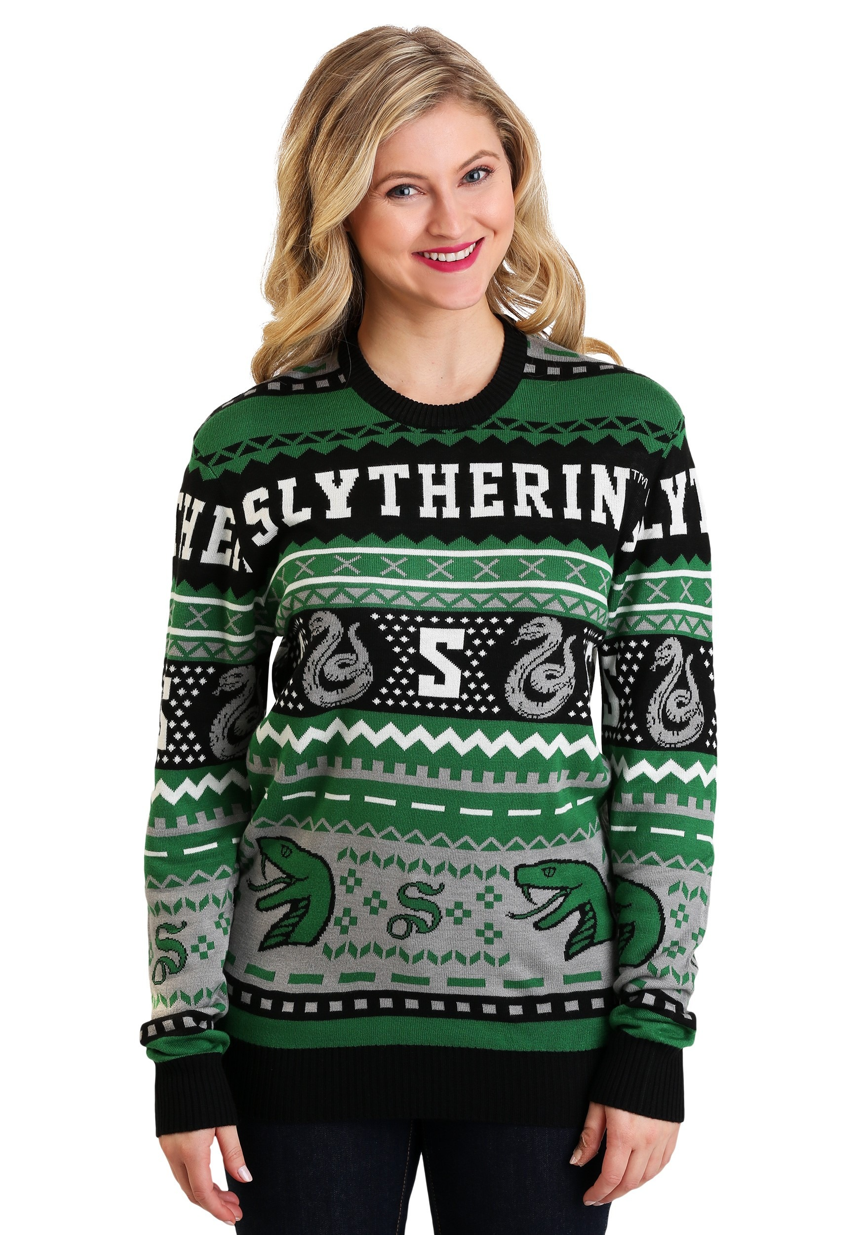 eb2d1f6ef83 Harry Potter Slytherin Ugly Sweater