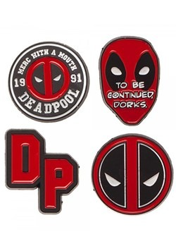 Deadpool Lapel Pin 4 Piece Set