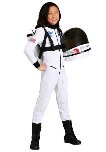 White Astronaut Costume for Girls