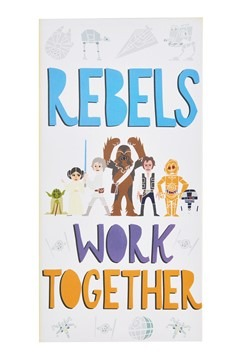 """Star Wars """"Rebels Work Together"""" Canvas Wall Decor"""
