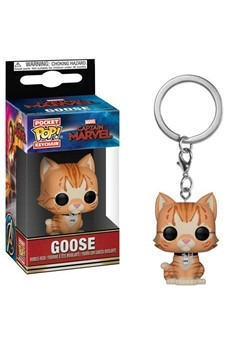 Pop! Keychains: Marvel- Captain Marvel- Goose the Cat