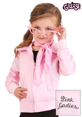 Grease Pink Ladies Costume Jacket for Toddlers