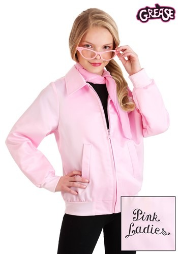 Grease Pink Ladies Girls Costume Jacket