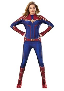 Captain Marvel Deluxe Women's Costume