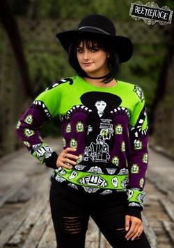 Beetlejuice Lydia Deetz Ugly Halloween Sweater 1