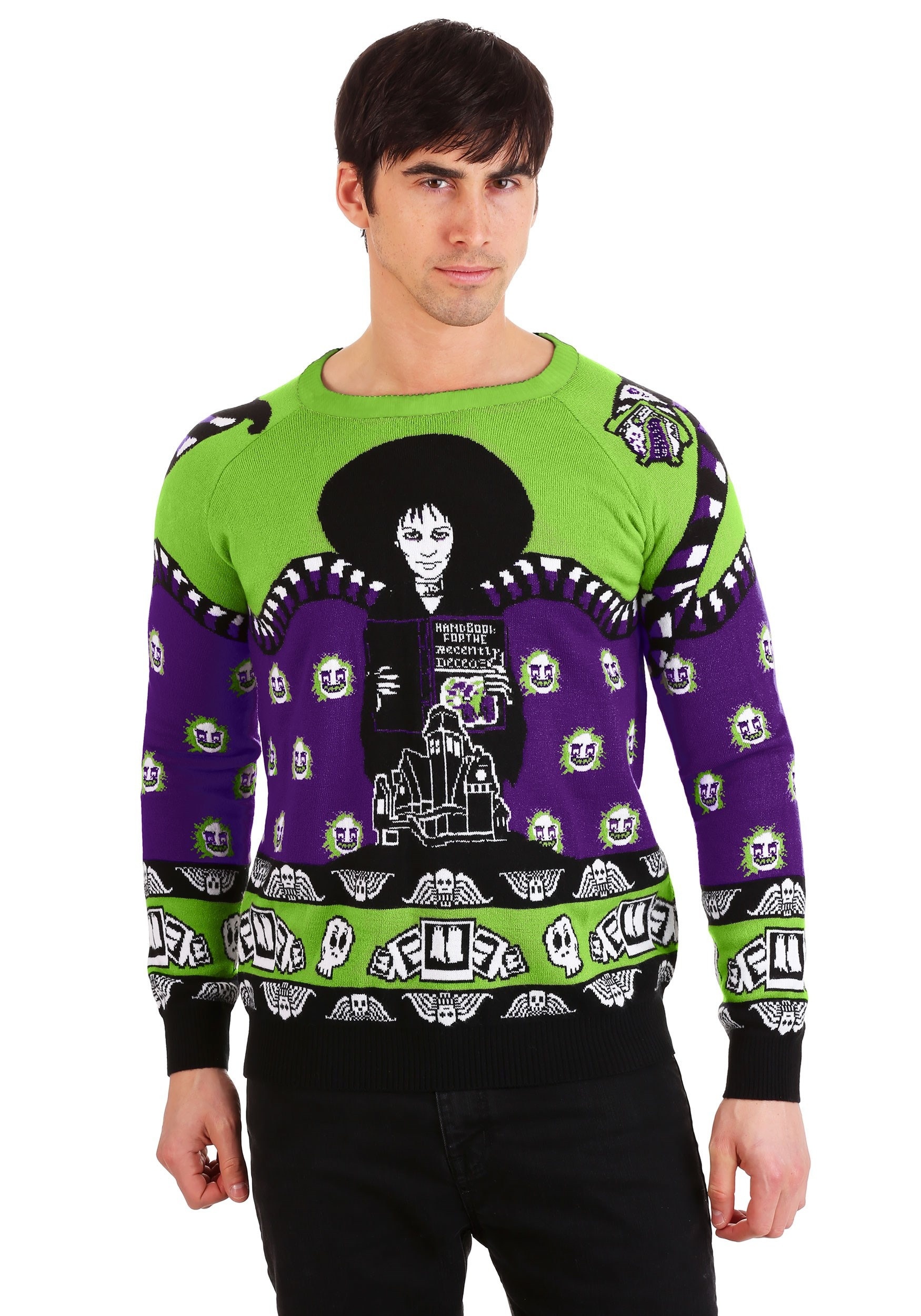 Beetlejuice Lydia Deetz Ugly Halloween Sweater