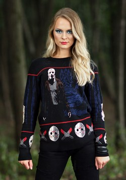 Friday the 13th Camp Crystal Lake Ugly Halloween Sweater