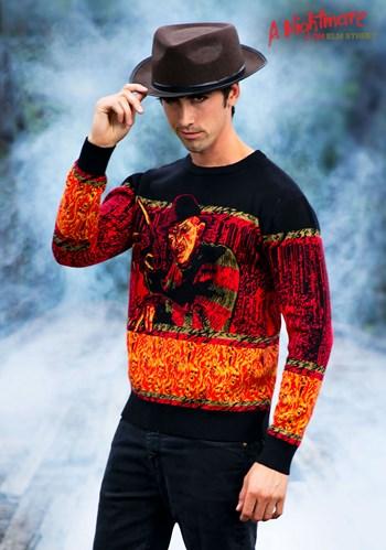 Adult Nightmare on Elm Street Freddy Halloween Sweater