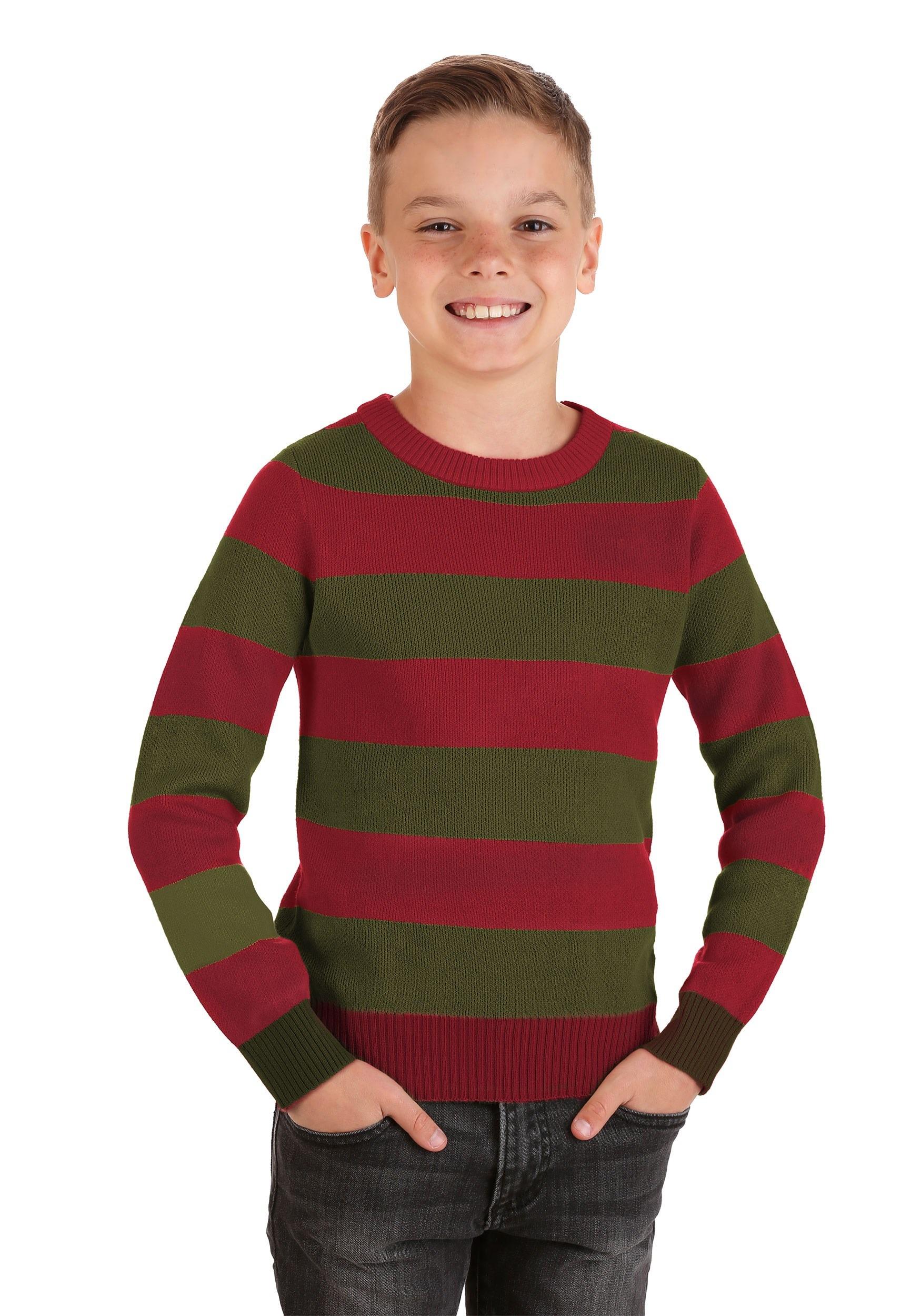 CHILD FREDDY KRUEGER CLAW HAT JUMPER NIGHTMARE ON ELM STREET HALLOWEEN COSTUME