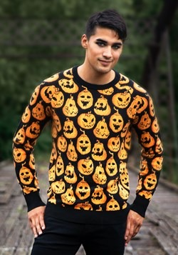 Pumpkin Frenzy Ugly Halloween Sweater