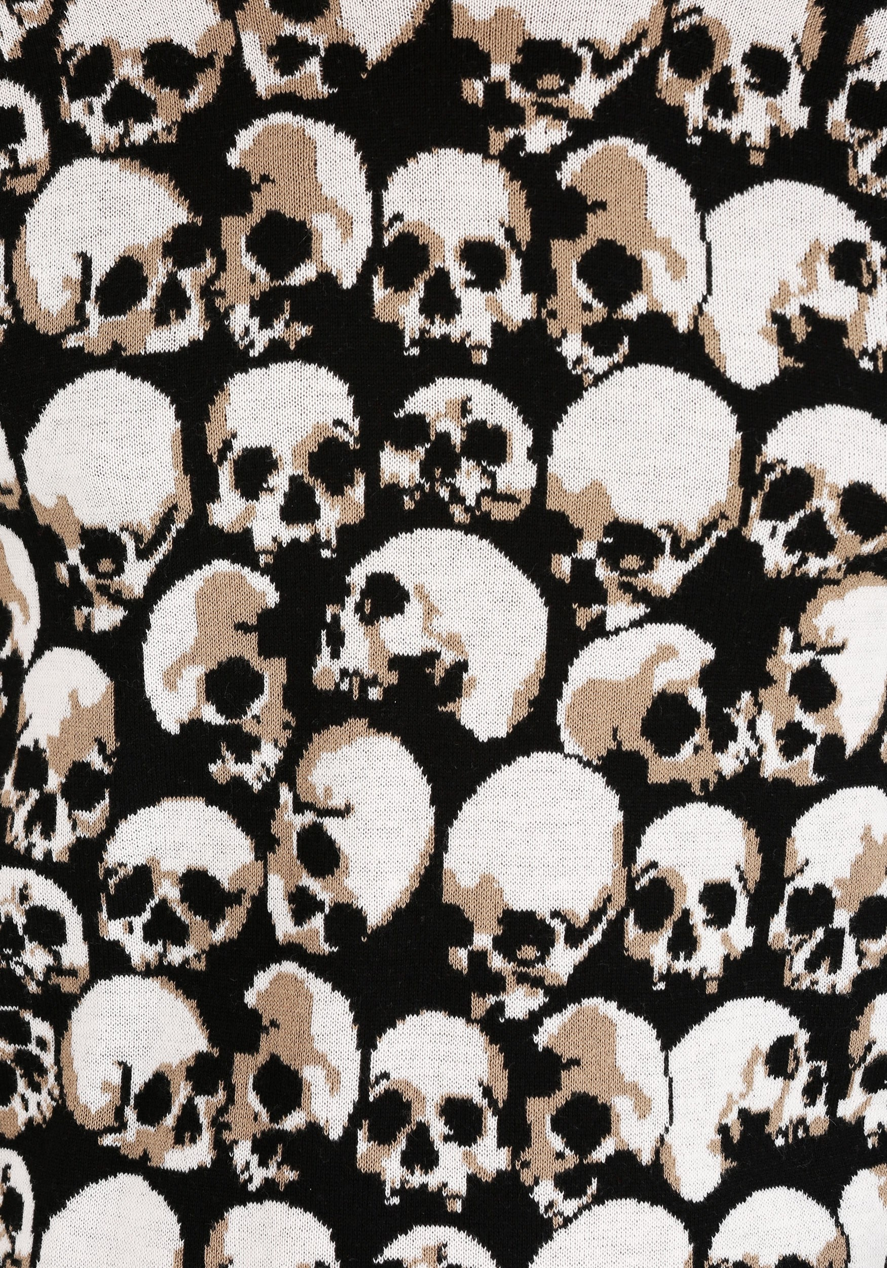 Skulls Galore Ugly Halloween Sweater For Adults