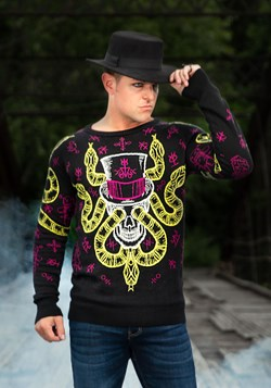 Voodoo Skull Ugly Halloween Sweater for Adults 1