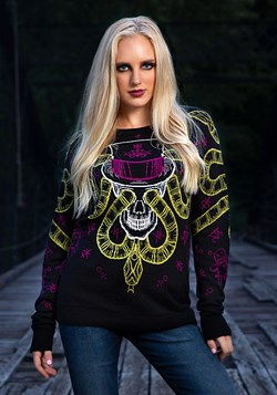 Voodoo Skull Ugly Halloween Sweater for Adults
