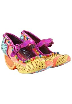Irregular Choice 'Fruit Punch' Orange/Mint Orange Heels