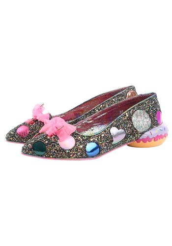 Irregular Choice 'Custard Filled' Black Sprinkled Flats