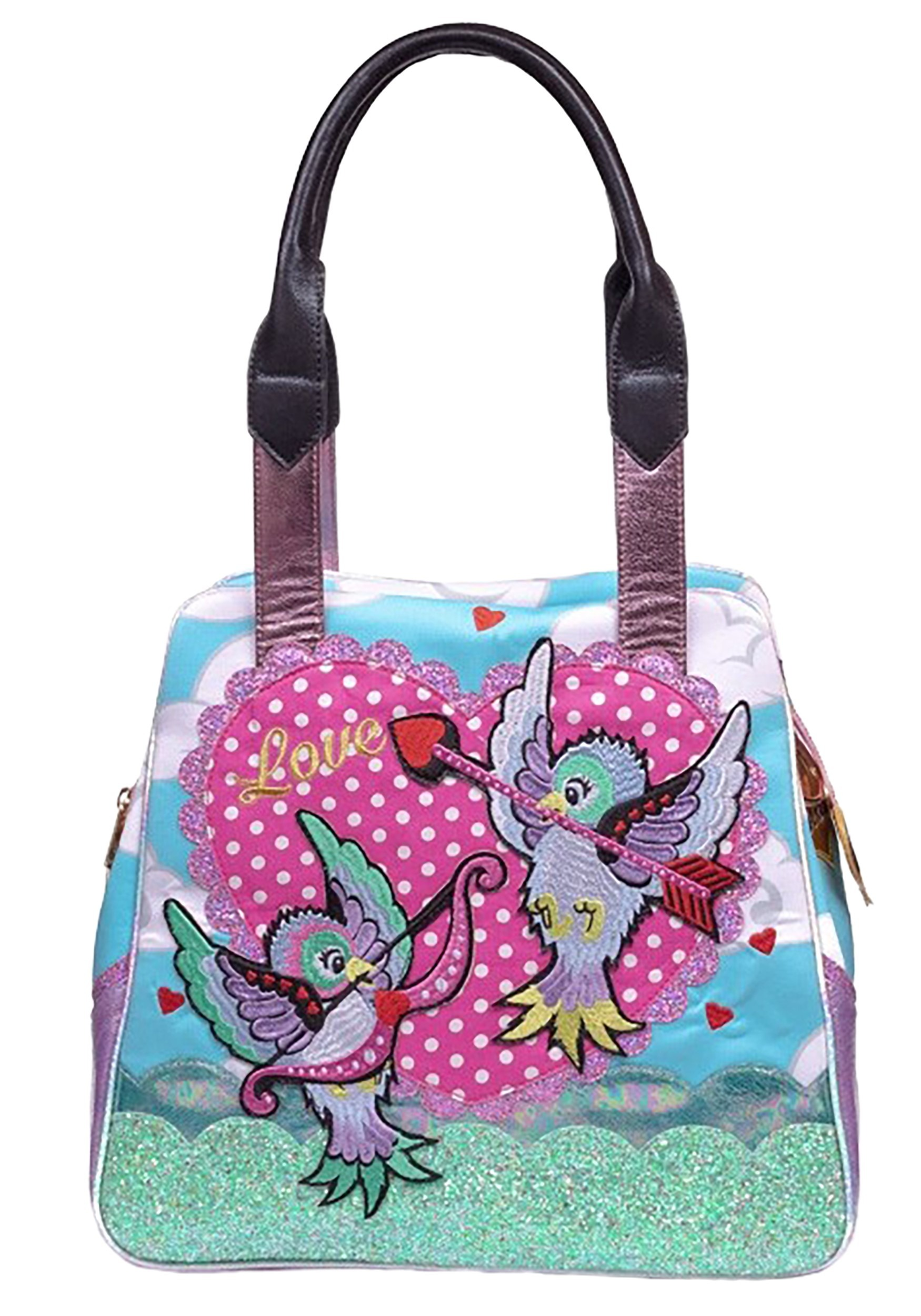 Irregular Choice Cupid Bird Blue Handbag Purse (IRRB112-06A-ST IRRB112-06A) photo