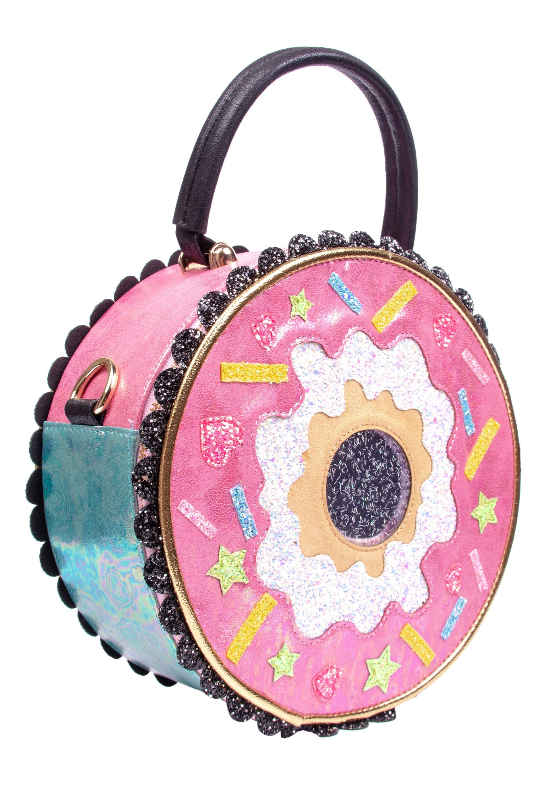 Irregular Choice Donut Worry Pink & White Purse (IRRB122-04A-ST IRRB122-04A) photo
