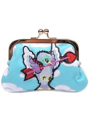 Irregular Choice Cupid Bird Blue/Lilac Coin Bag Pu