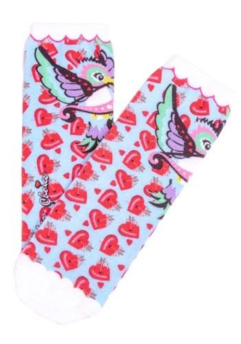 Irregular Choice Women's Cupid Bird Print Socks