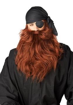 Adults Red Pirate Beard