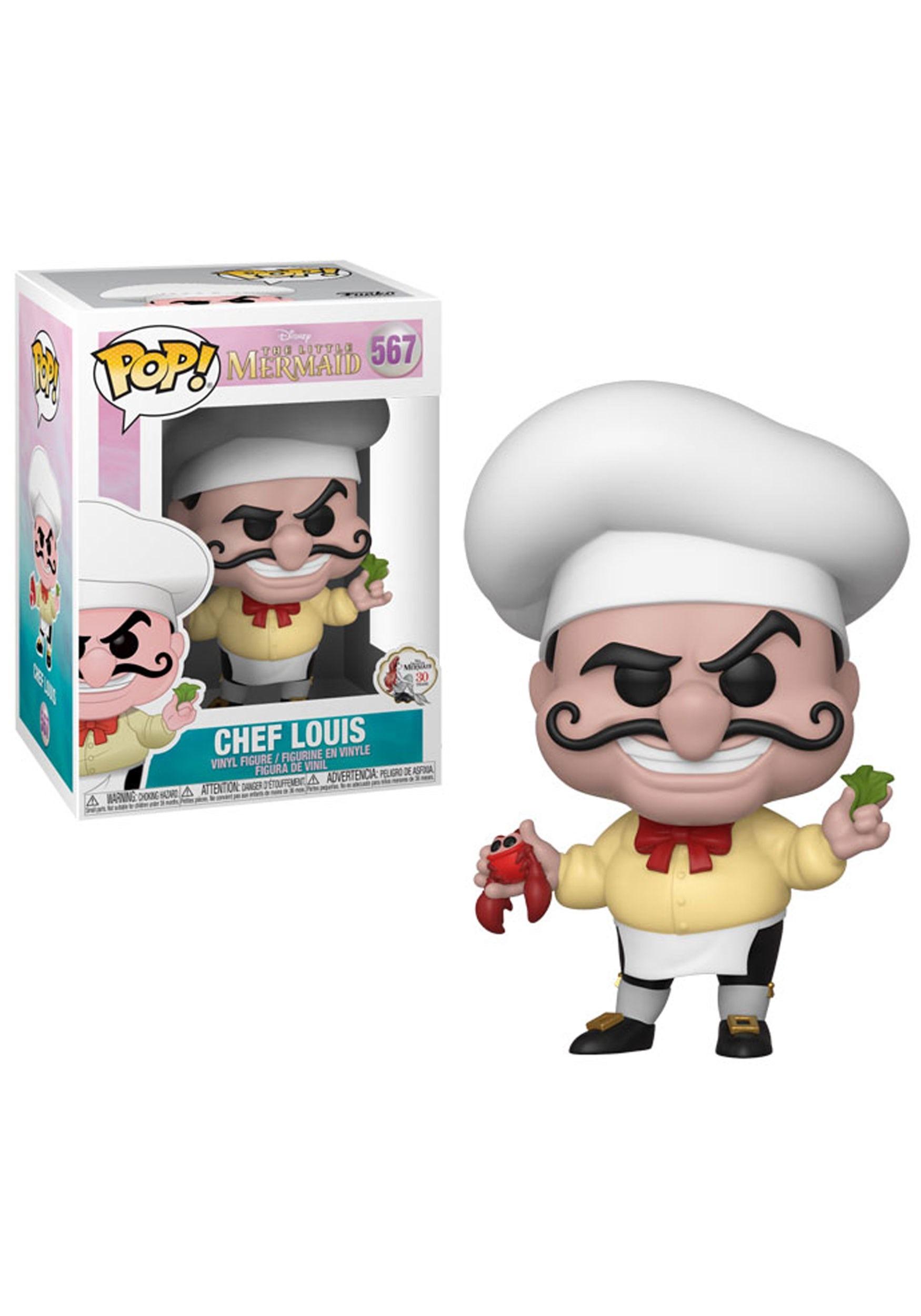 Pop Disney Little Mermaid Chef Louis Collectible