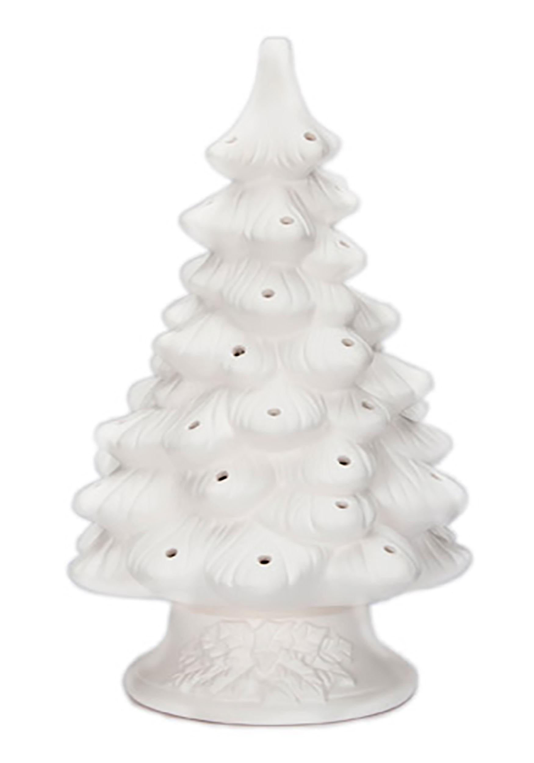 White Ceramic Christmas Tree.Diy Ceramic 11 4in Christmas Tree