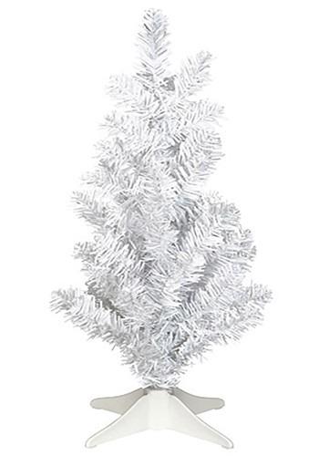 Mini White Tinsel 14in Christmas Tree