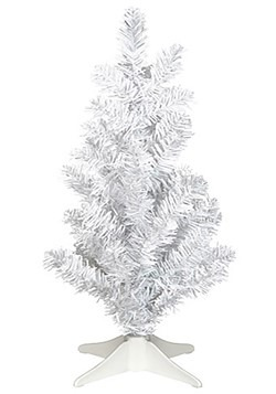 14 Mini White Tinsel Christmas Tree