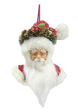 Santa Head Plush Christmas Ornament