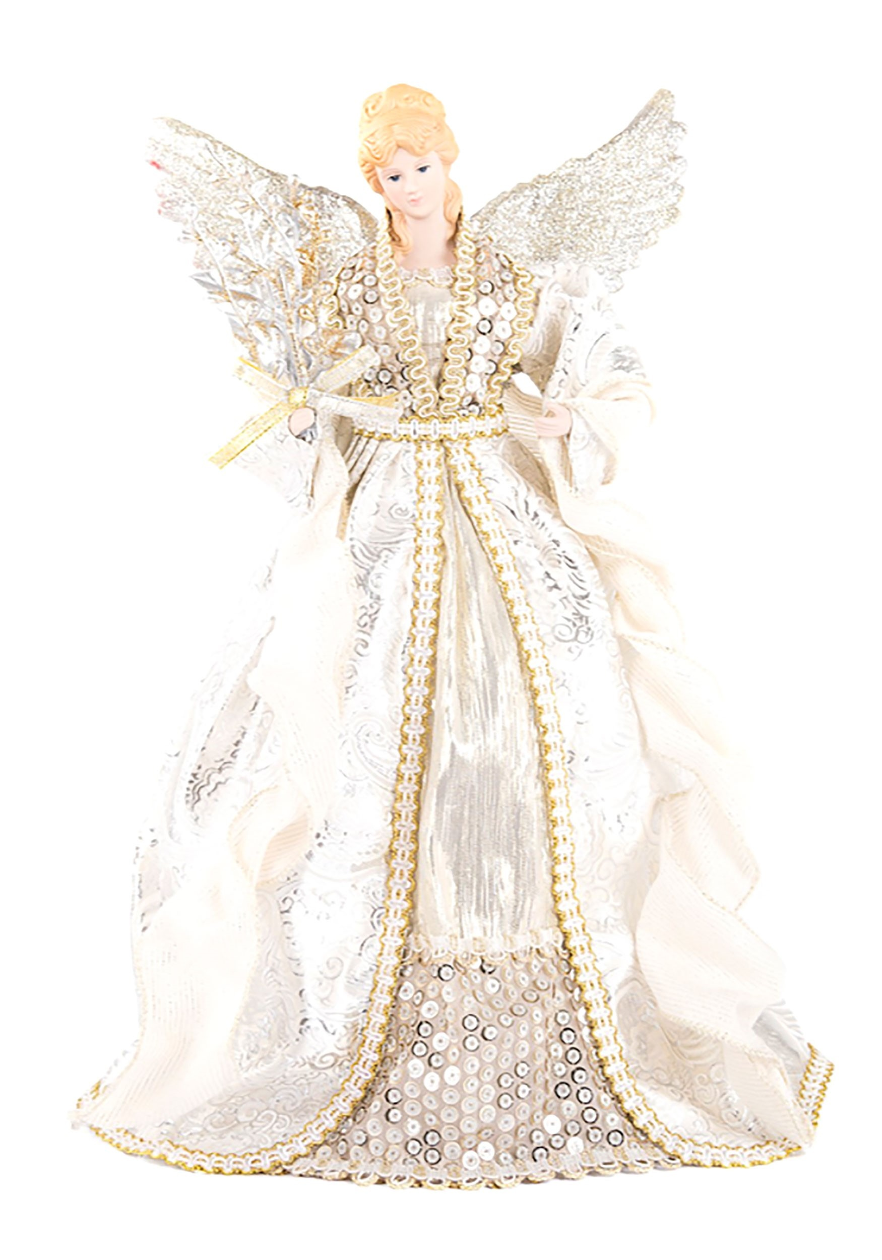 16 Gold And Silver Angel Tree Topper