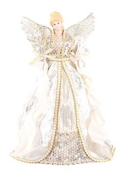 "Gold & Silver 16"" Angel Tree Topper"