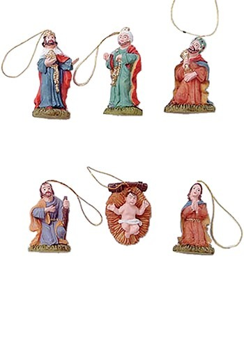 Mini Christmas Nativity Ornament Set