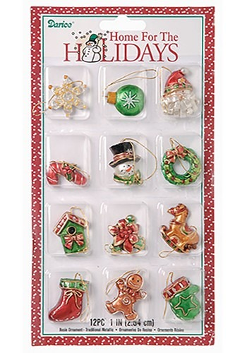 1 5 Inch Mini Traditional Resin Ornament Set