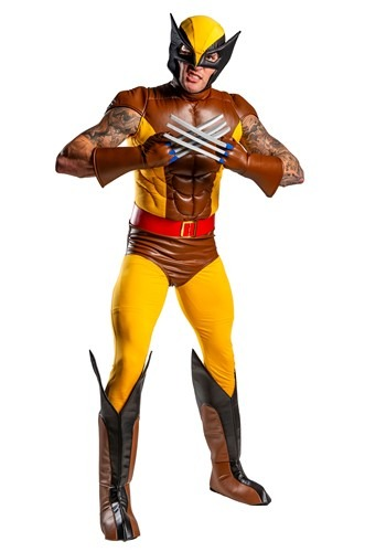 X-Men Wolverine Brown Adult Costume