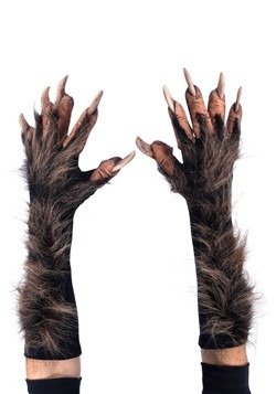 Brown Adult Wolf Gloves