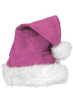Pink Velvet Santa Hat Deluxe