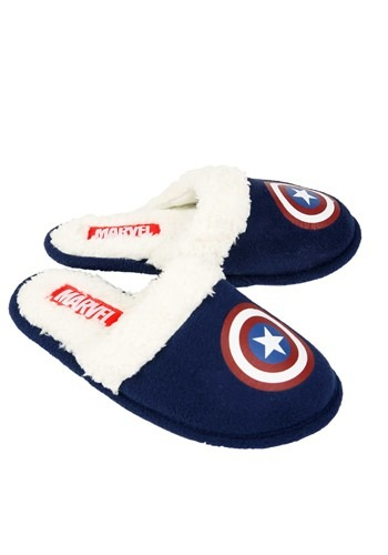 Captain America Shield Blue Slippers update1